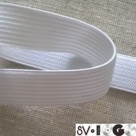 Резинка плоская 25мм белая (40 метров)