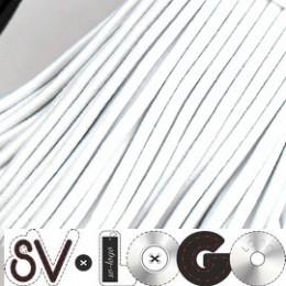 Резинка шнур 2,5мм белая (80 метров)