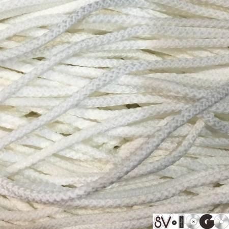Шнур круглый 4 мм белый (200 метров)