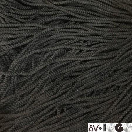 Шнур круглый 3 мм черный (200 метров)