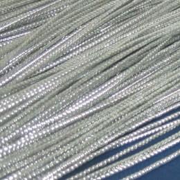 Шнур люрекс 1мм серебро (100 метров)