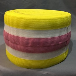 Резинка 130мм для манжетов желто розовая (метр )