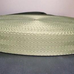 Тесьма-лента ременная производство 30мм хаки зигзаг (50 метров)
