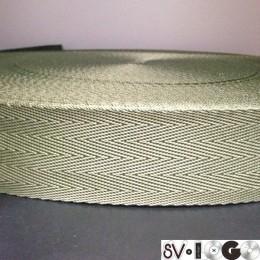 Тесьма-лента ременная производство 40мм хаки зигзаг (50 метров)