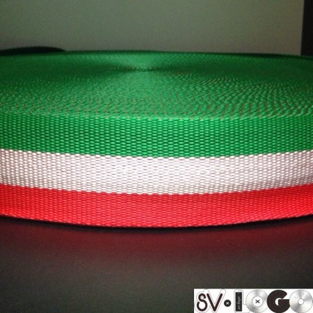 Тесьма-лента ременная производство 40мм италия репс (50 метров)