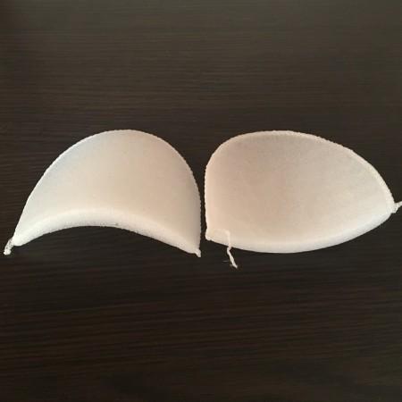 Плечевые накладки, подплечники трикотажные 14мм (14х110х95) белые (50 пар)