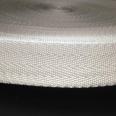 Тесьма-лента ременная производство 25мм белая (50 метров)