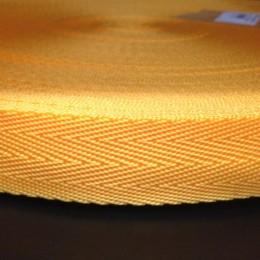 Тесьма-лента ременная производство 25мм желтая (50 метров)