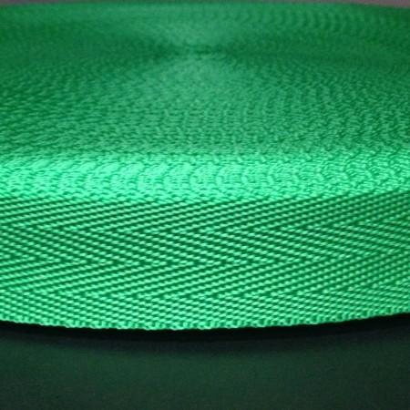 Тесьма-лента ременная производство 25мм зеленая (50 метров)