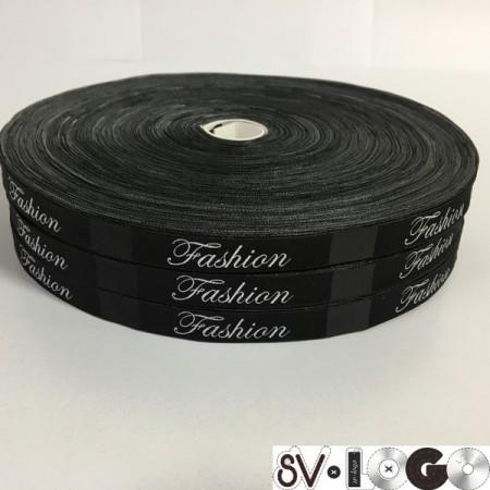 Этикетка жаккардовая вышитая Fashion 10мм (100 метров)