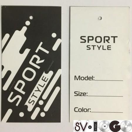 Этикетка картонная 5х10см Sport (1000 штук)