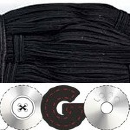 Резинка 4мм для петель черная (100 метров)