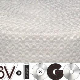 Резинка 50мм волна белая (25 метров)