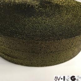 Резинка 50мм золото черный (25 метров)
