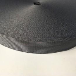 Тесьма репсовая производство 20мм серая светлая (50 метров)
