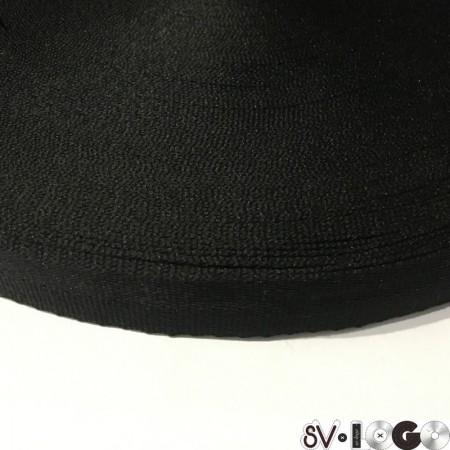 Тесьма репсовая производство 30 мм черная (50 метров)