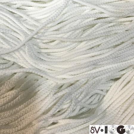 Шнур круглый 3 мм белый (200 метров)