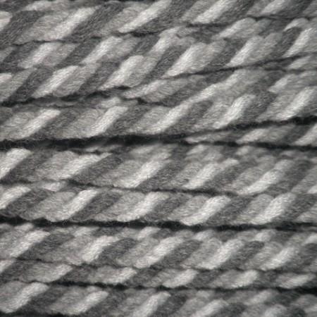 Шнур канат 8мм акриловый серо белый (50 метров)