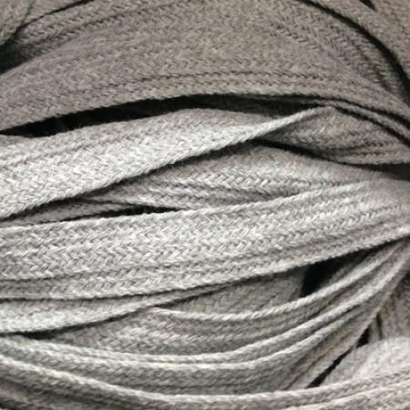 Шнур плоский АК 15мм серый (50 метров)