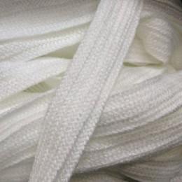 Шнур плоский АК 15мм белый (50 метров)