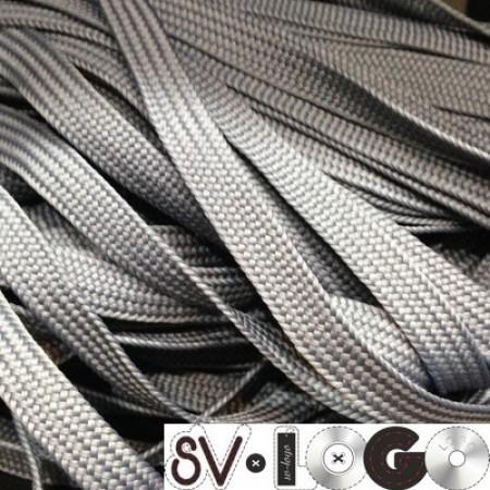 Шнур плоский ПЭ17 10 мм серый (100 метров)