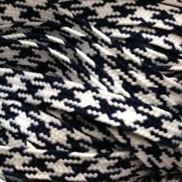 Шнур плоский ПЭ 12мм сине белый (100 метров)