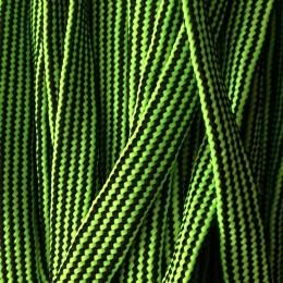 Шнур плоский чехол ПЭ40 20мм зелено черный (50 метров)