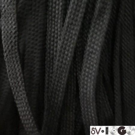 Шнур плоский чехол ПЭ8 мм черный (100 метров)