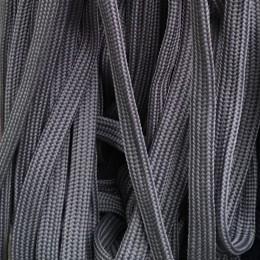Шнур плоский чехол ПЭ40 20мм серый (50 метров)