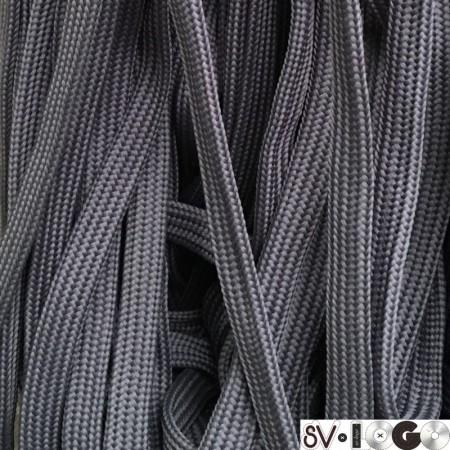 Шнур плоский чехол ПЭ40 20 мм серый (50 метров)