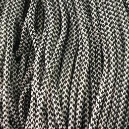 Шнур круглый 4мм 2х цветный бело черный (200 метров)