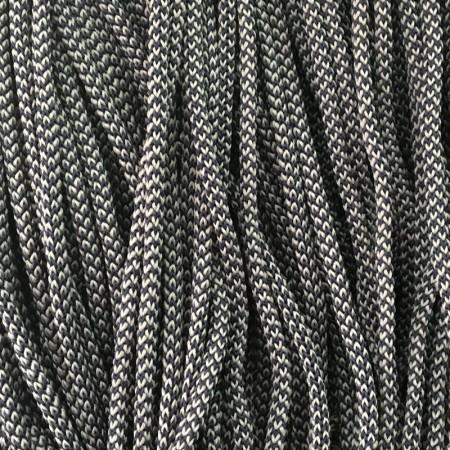 Шнур круглый 4мм 2х цветный черно белый (200 метров)