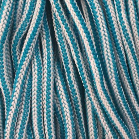 Шнур круглый 4 мм наполнитель бело голубой (200 метров)