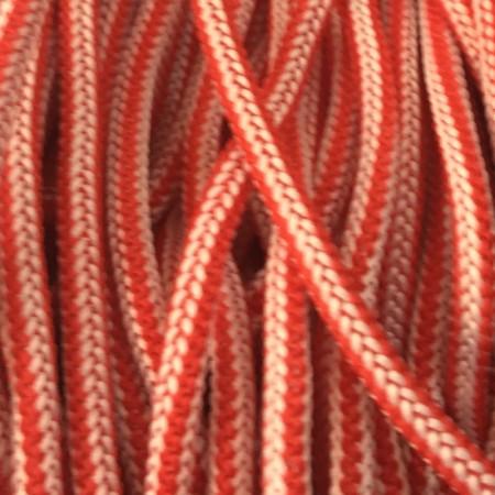 Шнур круглый 4мм наполнитель бело красный (200 метров)
