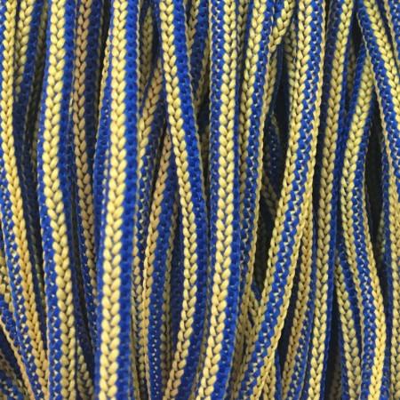 Шнур круглый 4 мм наполнитель желто синий (200 метров)