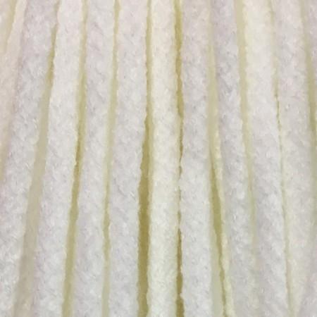 Шнур круглый 6 мм акриловый белый (100 метров)