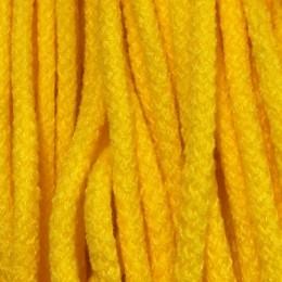Шнур круглый 6мм акриловый желтый (100 метров)