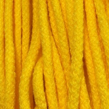Шнур круглый 6 мм акриловый желтый (100 метров)