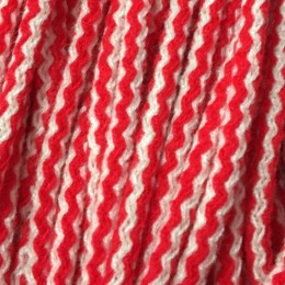 Шнур круглый 6мм акриловый красно белый (100 метров)