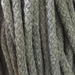 Шнур круглый 8мм акриловый серый (100 метров)