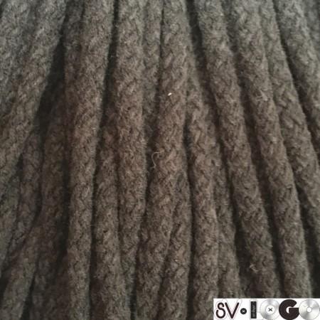 Шнур круглый 8 мм акриловый коричневый (100 метров)