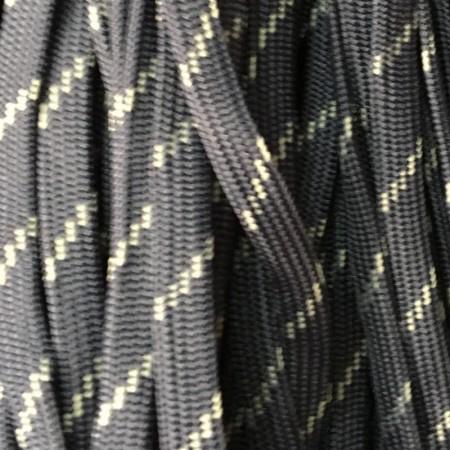 Шнур плоский чехол ПЭ40 10мм темно серый белый (100 метров)
