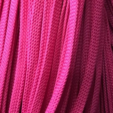 Шнур плоский чехол ПЭ8 мм розовый (100 метров)