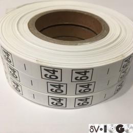 Размерная лента (накатка) 64 (1000 штук)