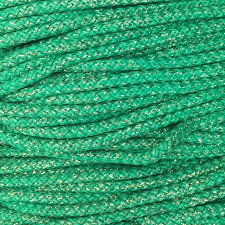 Шнур круглый 4 мм люрекс зеленый (200 метров)