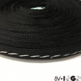 Тесьма репсовая производство 10мм серебрянные стежки (50 метров)
