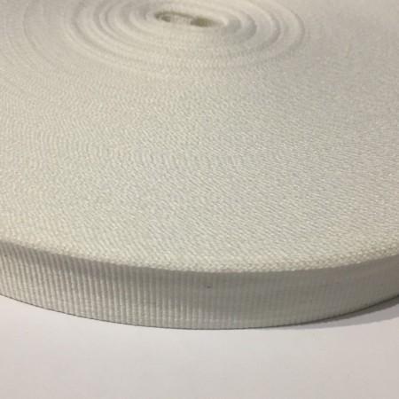 Тесьма репсовая производство 30мм белая (50 метров)