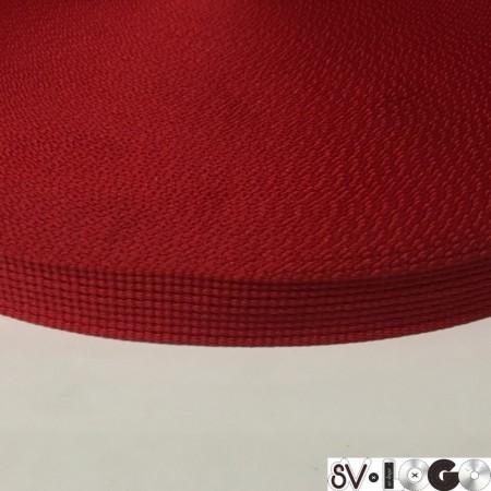 Тесьма репсовая производство 20мм красный (50 метров)