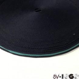 Тесьма репсовая производство 10мм сине бирюзовый (50 метров)