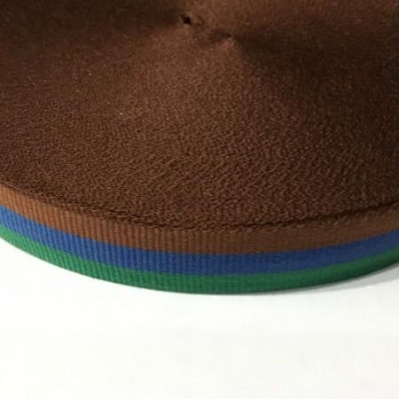 Тесьма репсовая производство 20мм зеленый синий коричневый (50 метров)